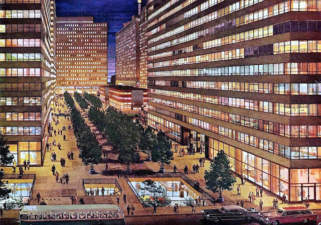 C.G. Evers illustration city at night 1950s?