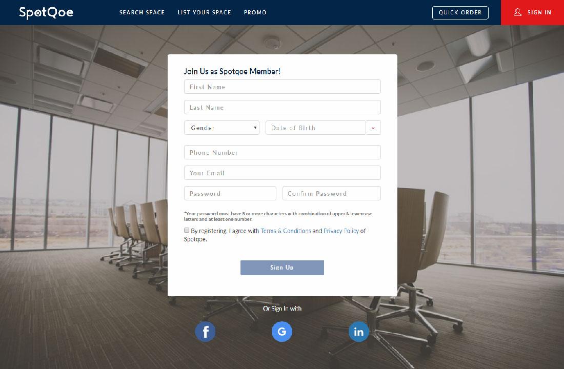 Registrasi Spotqoe Desktop