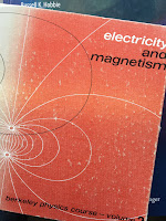 Electricity and Magnetism, Volume 2 of the Berkeley Physics Course, by Edward Purcell, superimposed on Intermediate Physics for Medicine and Biology.