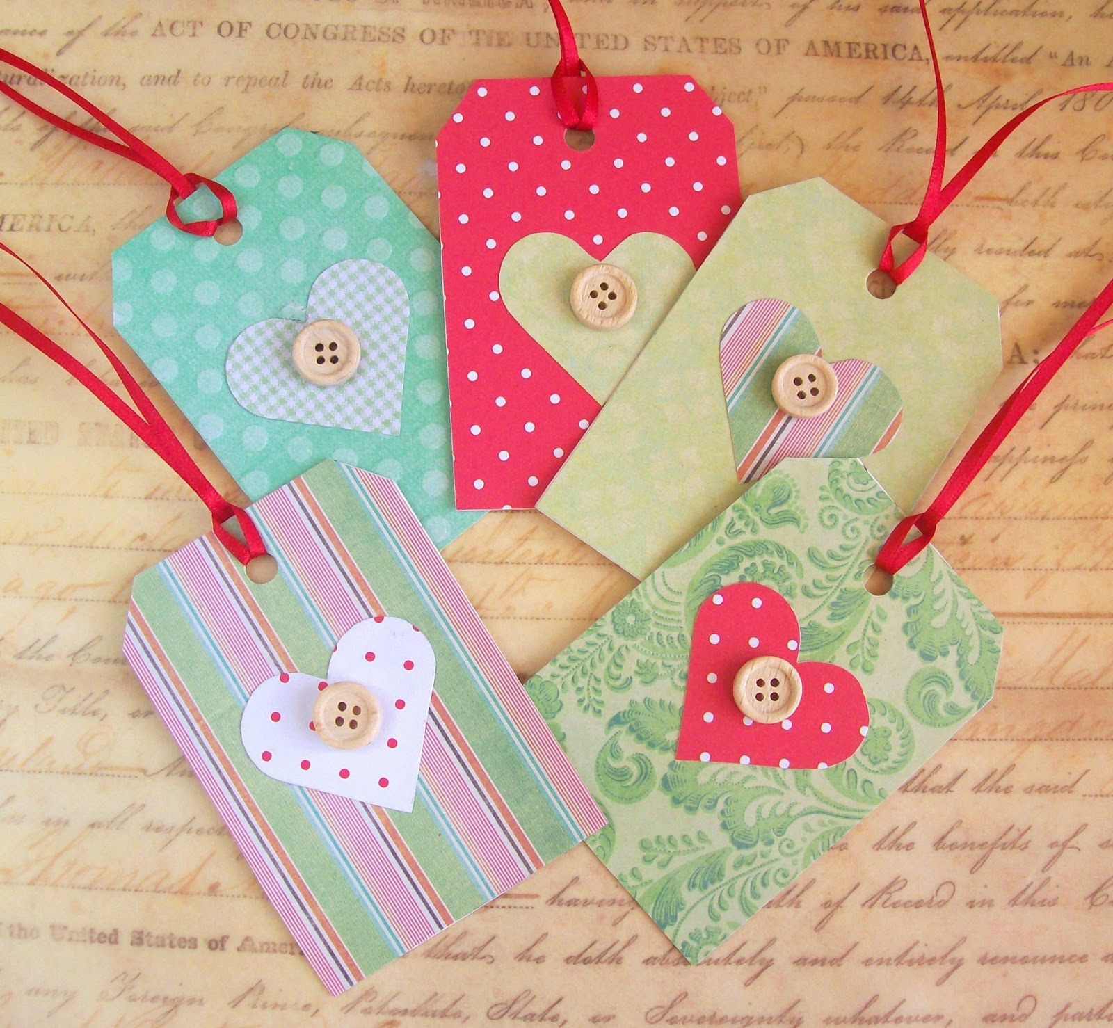 Artangel: Handmade Christmas Gift Tags Tutorial