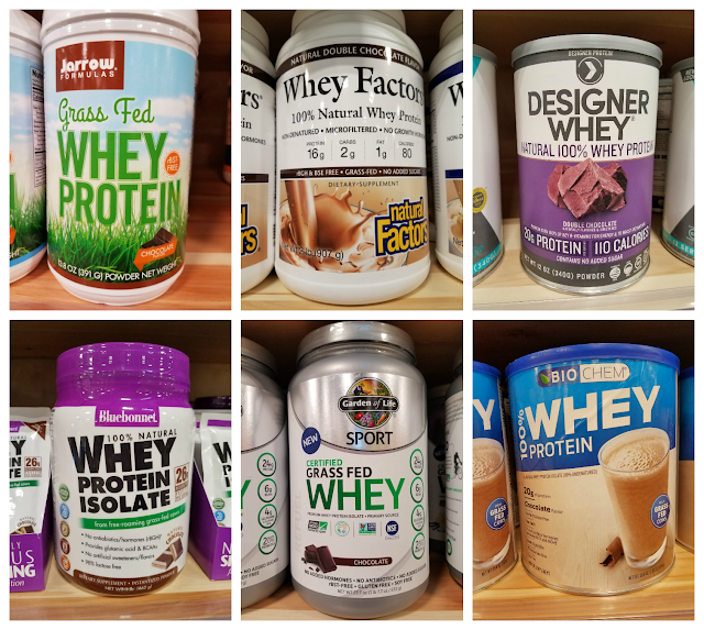 All of these whey protein powders can be purchased at Natural Grocers, but they can also be purchased at Amazon. All are sweetened naturally without sugar
