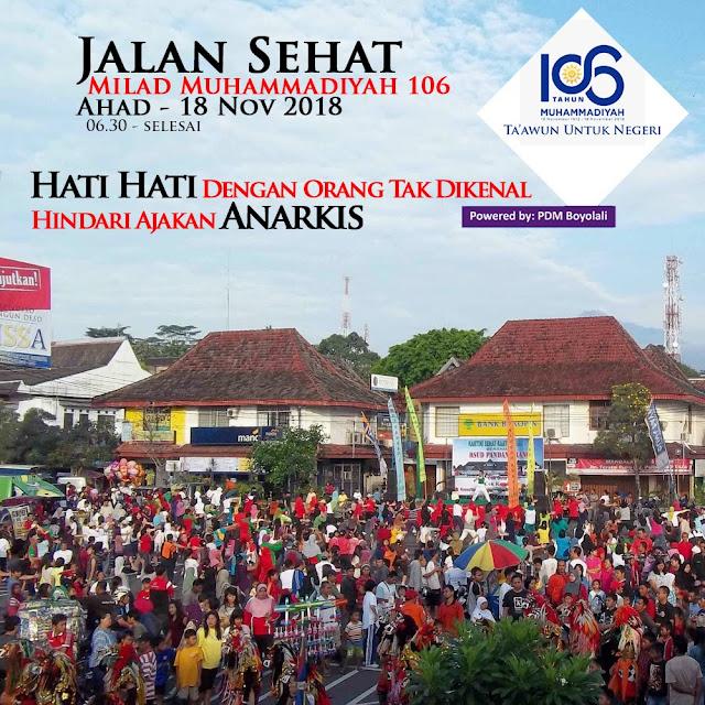 Ribuan Orang Akan Memeriahkan Jalan Sehat Milad Muhammadiyah 106 di Boyolali