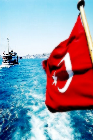 Cool 3d Art Wallpaper Turkish Flag Istanbul Bosphorus Landscape Iphone Wallpaper