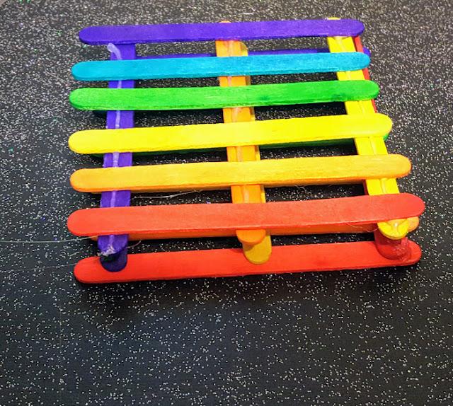 DIY Rainbow Coasters. Tween craft idea. Rainbow crafts