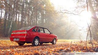 Daewoo FSO Polonez Caro Plus w jesiennym świetle