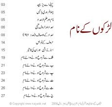 Muslim Name For Boy In Urdu