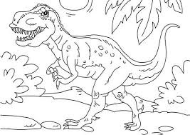 Printable Of  T-rex Coloring Pages Images