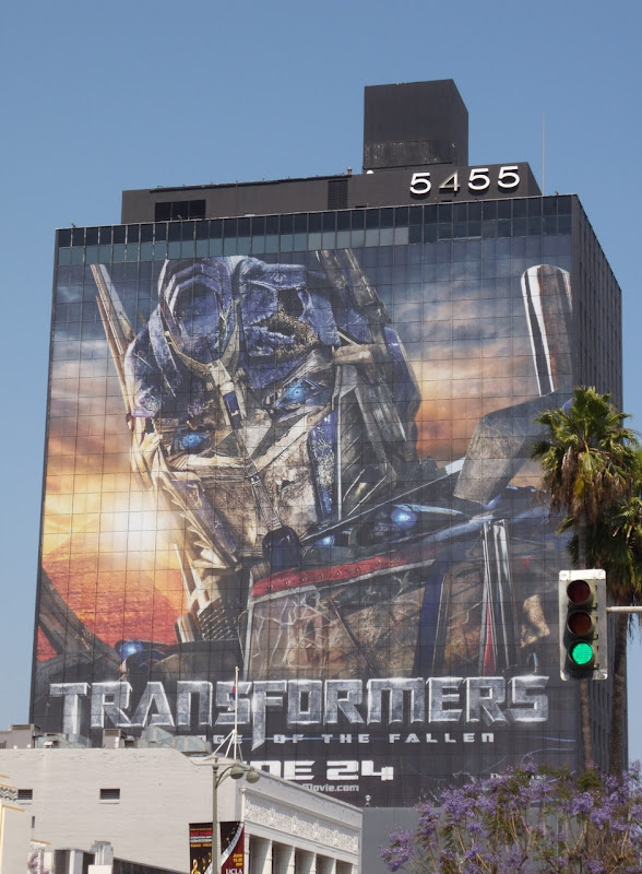 Giant Optimus Prime Transformers 2 billboard