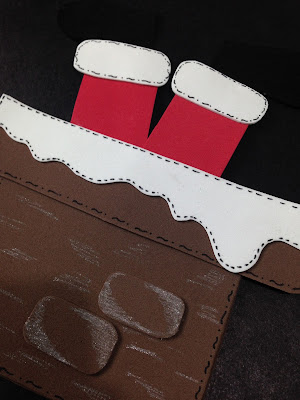 Porta Talher em EVA com tema de Natal