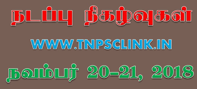 TNPSC Current Affairs 2018 - Download PDF