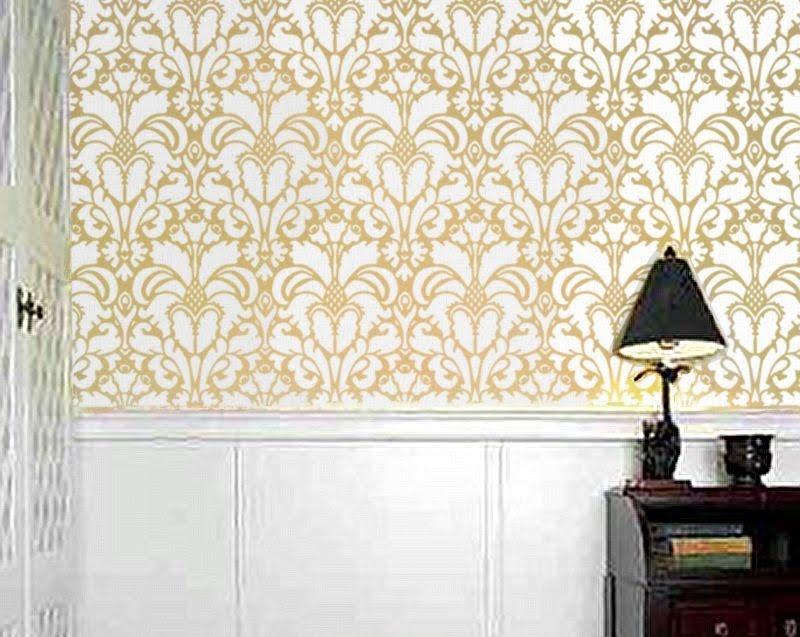 Smitten Design: Wallpaper vs. Stencil