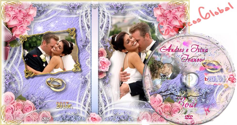 Portada DVD con diseño rosas plantilla psd