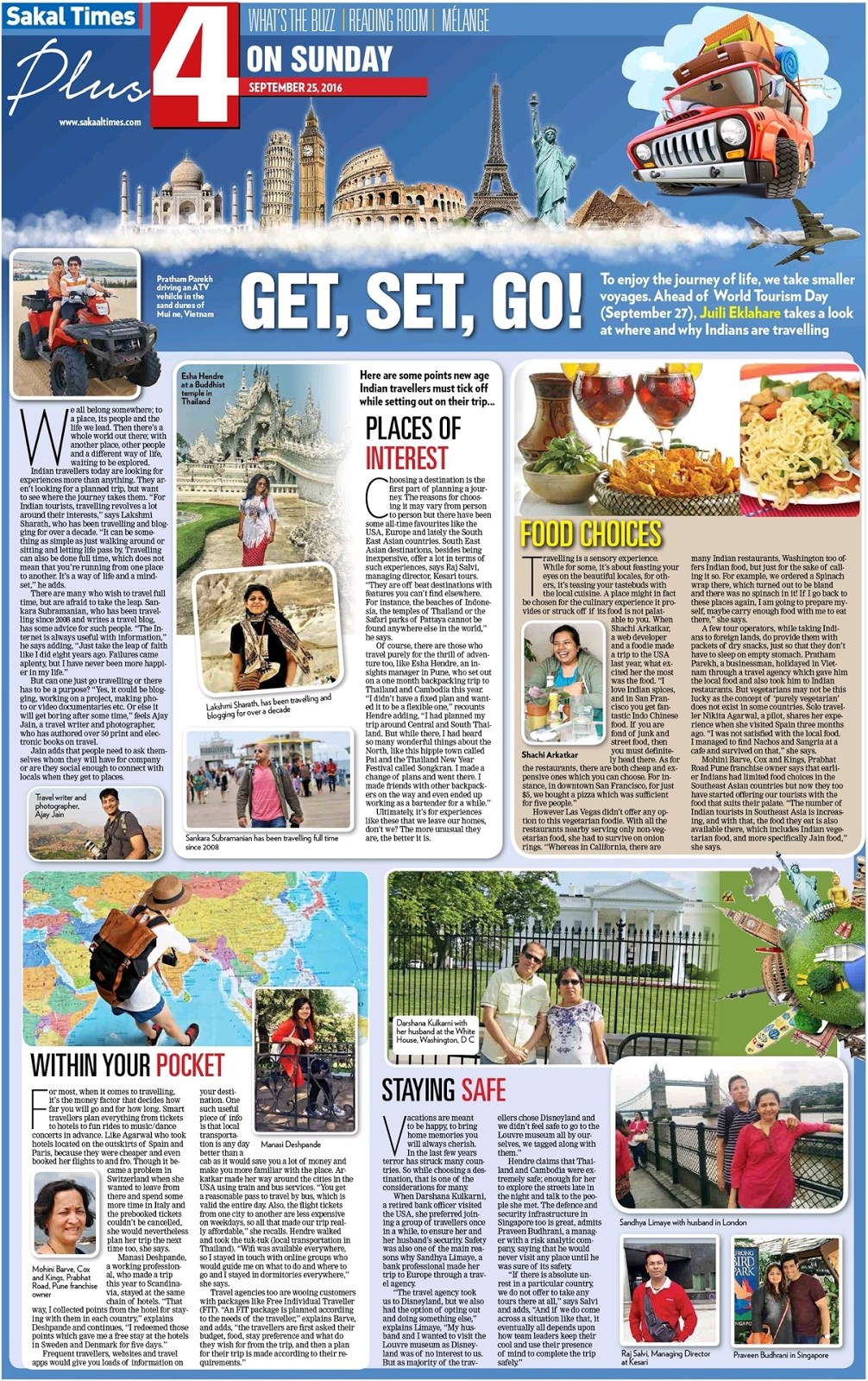 Get, Set, Go - Mentioned in Sakal Times