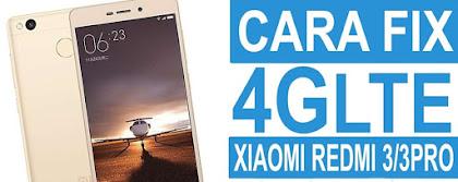 Fix signal jaringan 4G LTE Xiaomi Redmi 3/Pro tanpa Root dan UBL