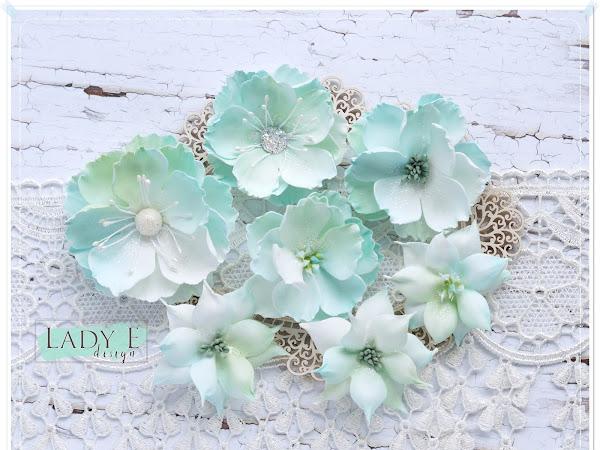 Mint Foamiran Flowers
