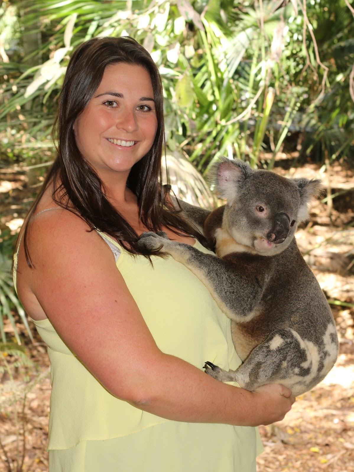 The Aussie Flashpacker cuddling a koala at Lone Pine Koala Sanctuary
