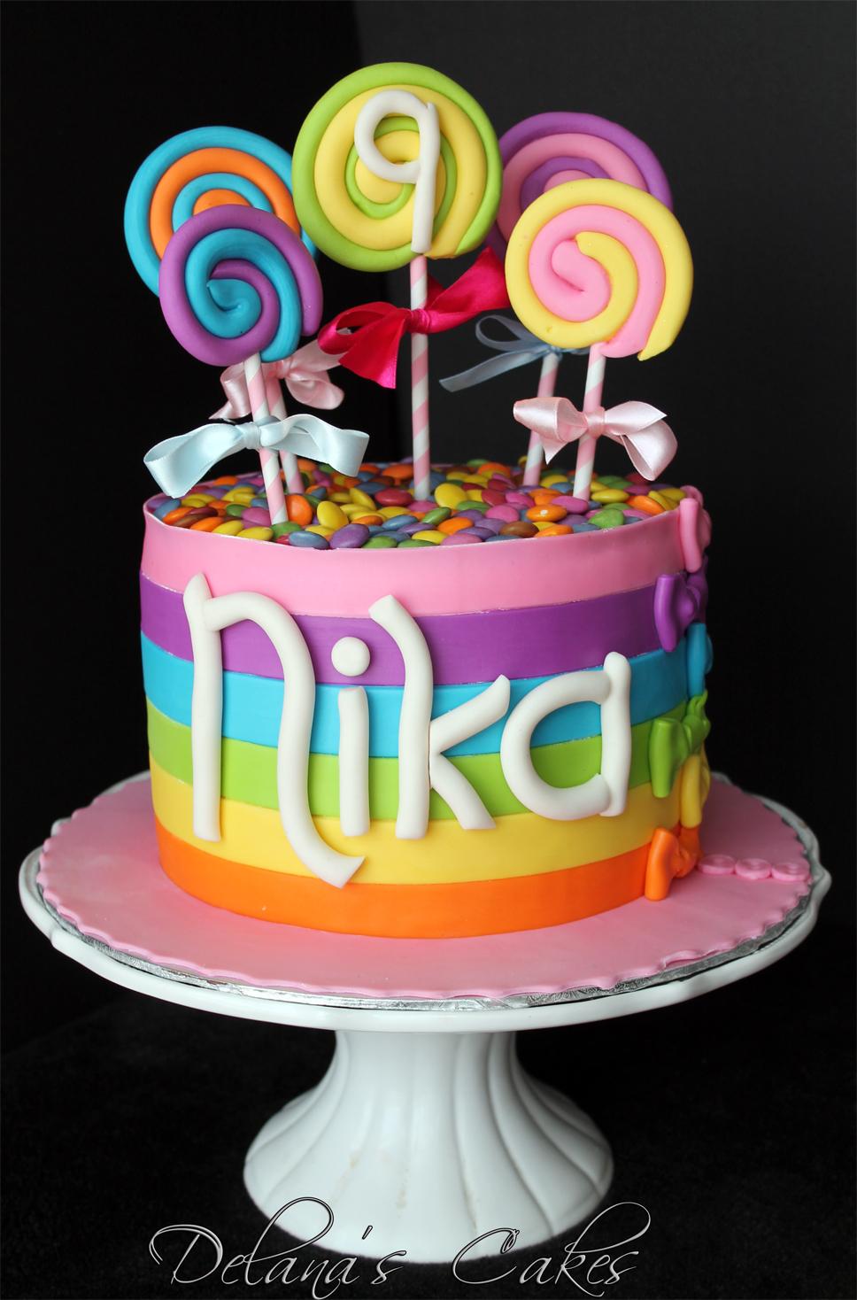 Delana's Cakes: Lollipop cake