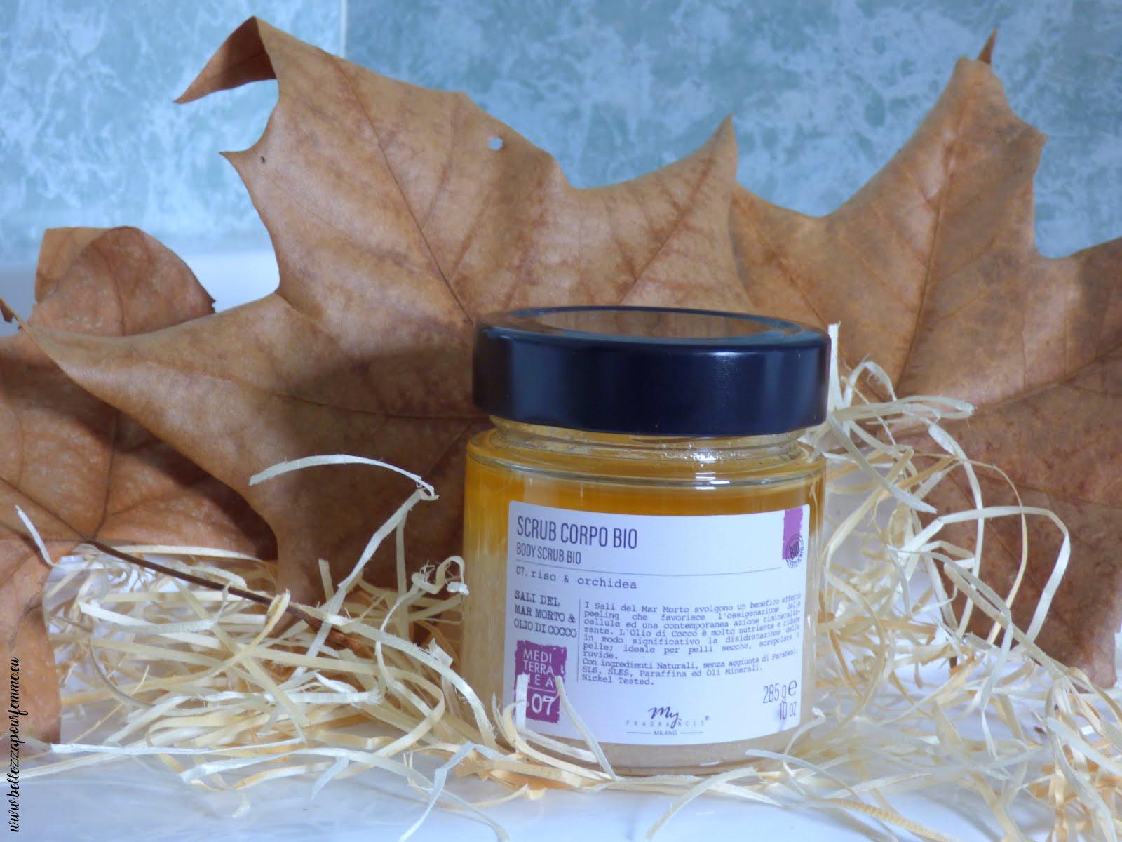 recensione My Fragrances scrub corpo riso & orchidea con sali del mar morto & olio di cocco - bio certificato