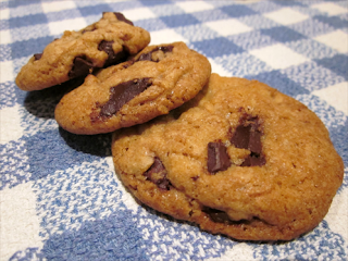 Cookies o galletas con pepitas de chocolate