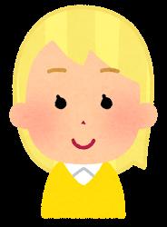 黄色い髪の女の子のイラスト