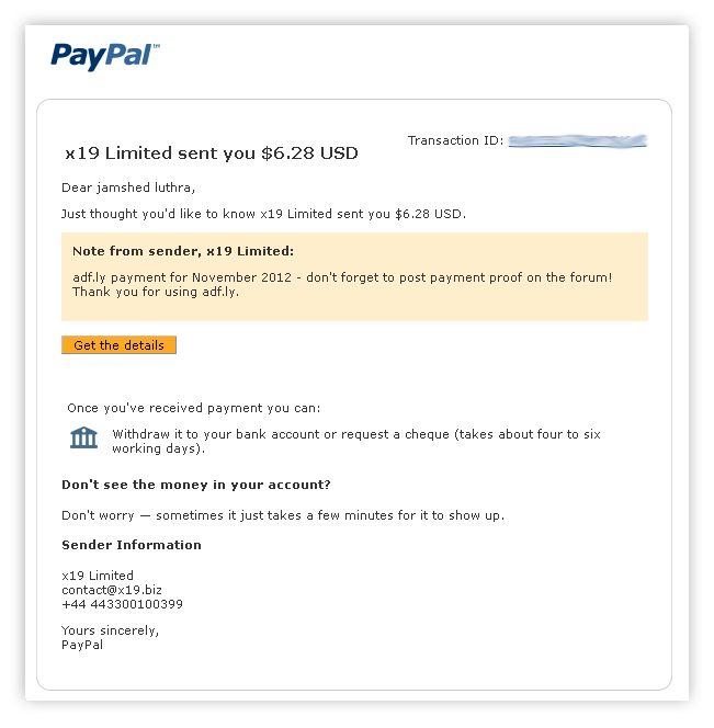 adf.ly payment proof