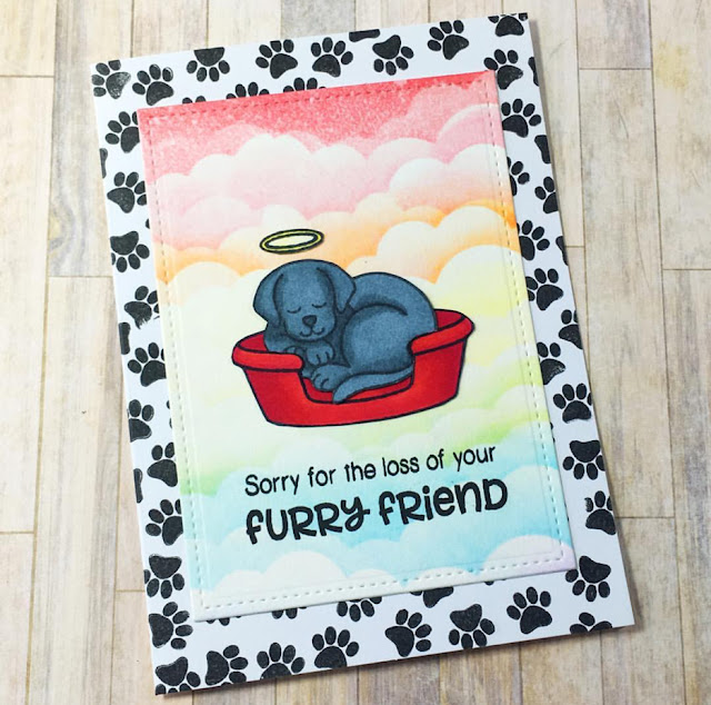 Sunny Studio Stamps: Pet Sympathy puppy dog card by Jenn
