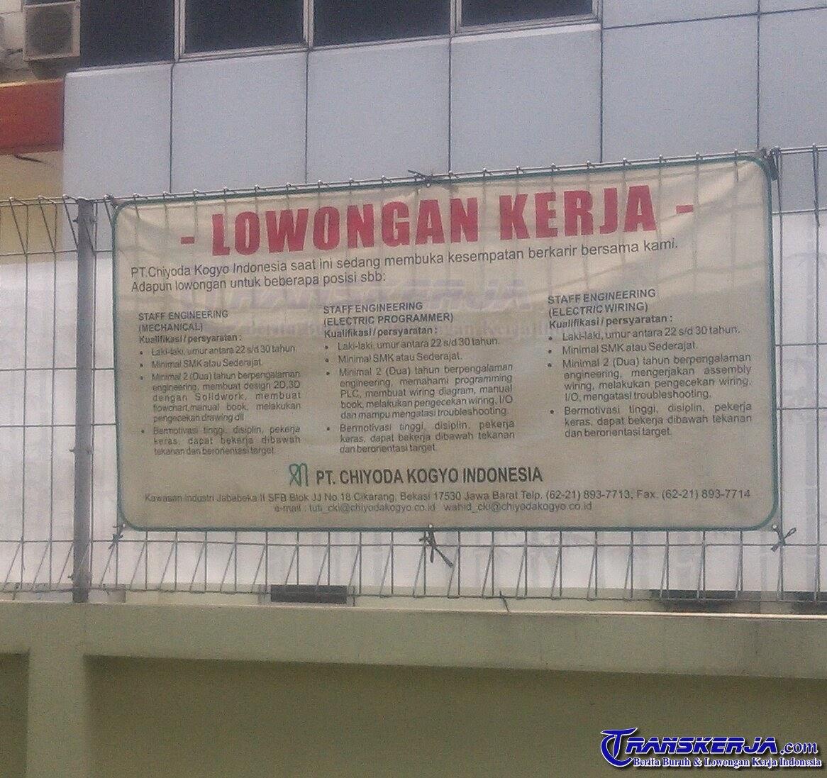 Lowongan Kerja Kawasan Jababeka 1 Daftar Alamat Perusahaan Kawasan Jababeka Mm2100 Ejip Lowongan Kerja Terbaru Pt Chiyoda Kogyo Indonesia Jababeka Ii