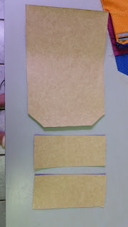 Purse reinforcing / stabiliser - cardboard cut to size