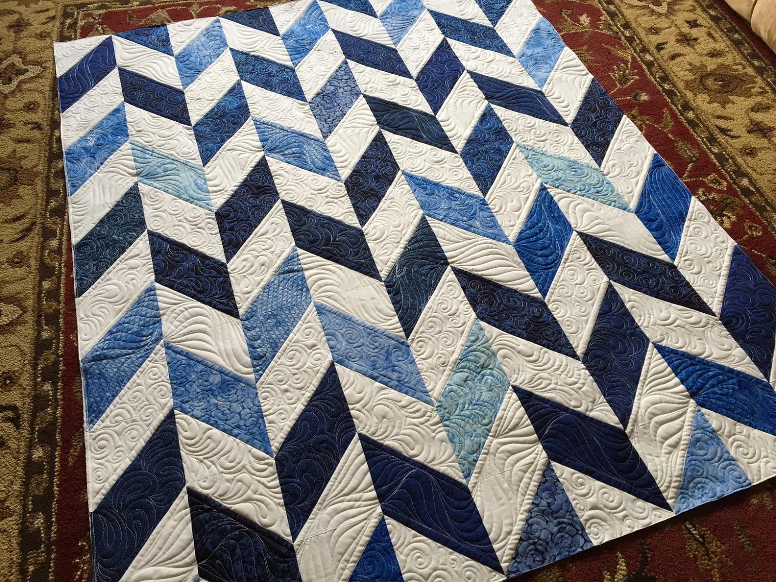 Carrie On The Prairie French Braid Chevron Quilt