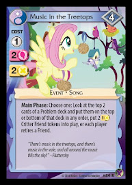 MLP Music in the Treetops Marks in Time CCG Card