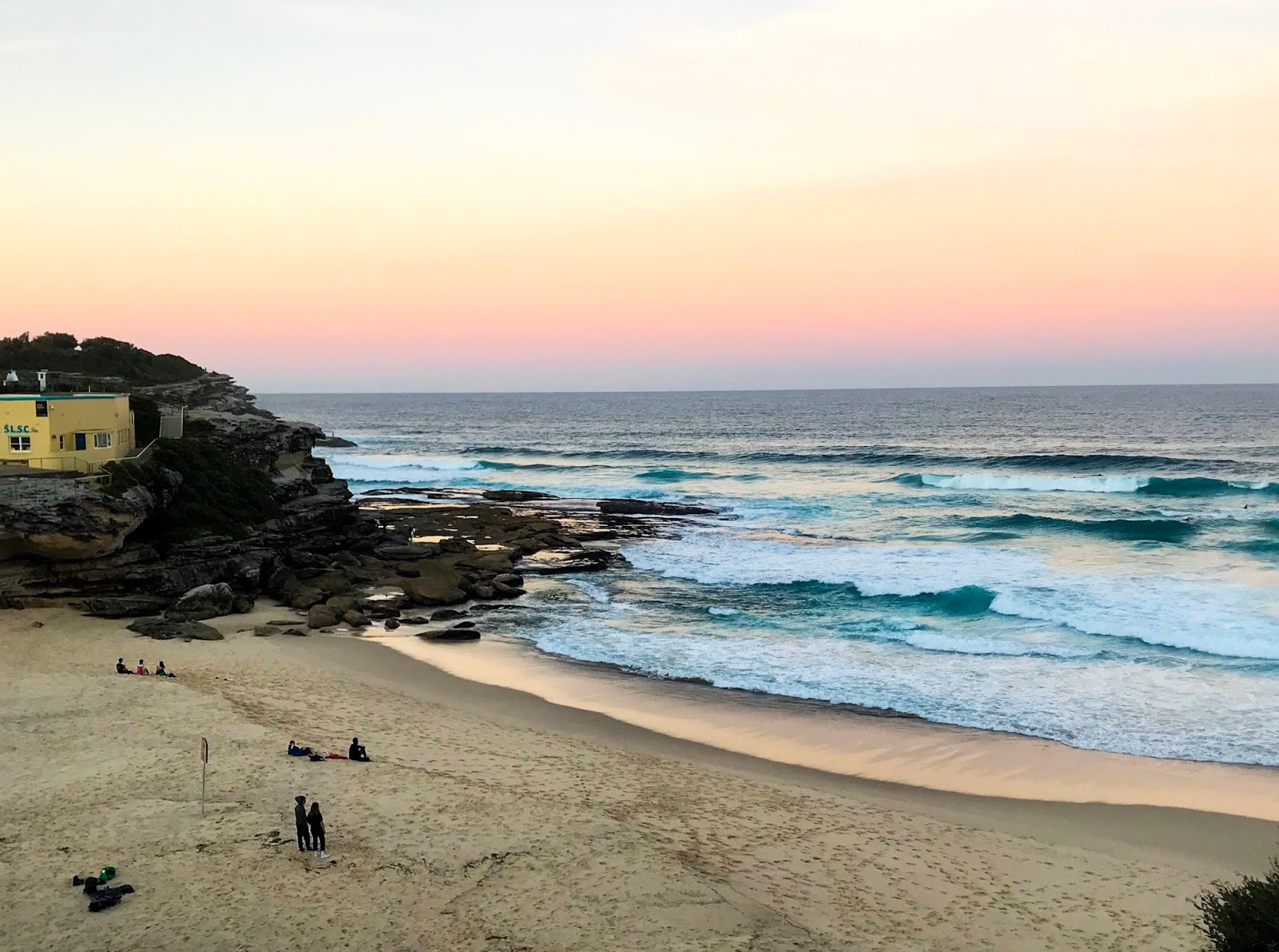Sunset over the beach in Sydney