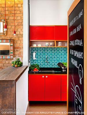 como usar vermelho na cozinha