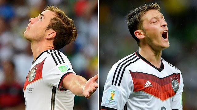 Mario Gotze vs Mesut Ozil