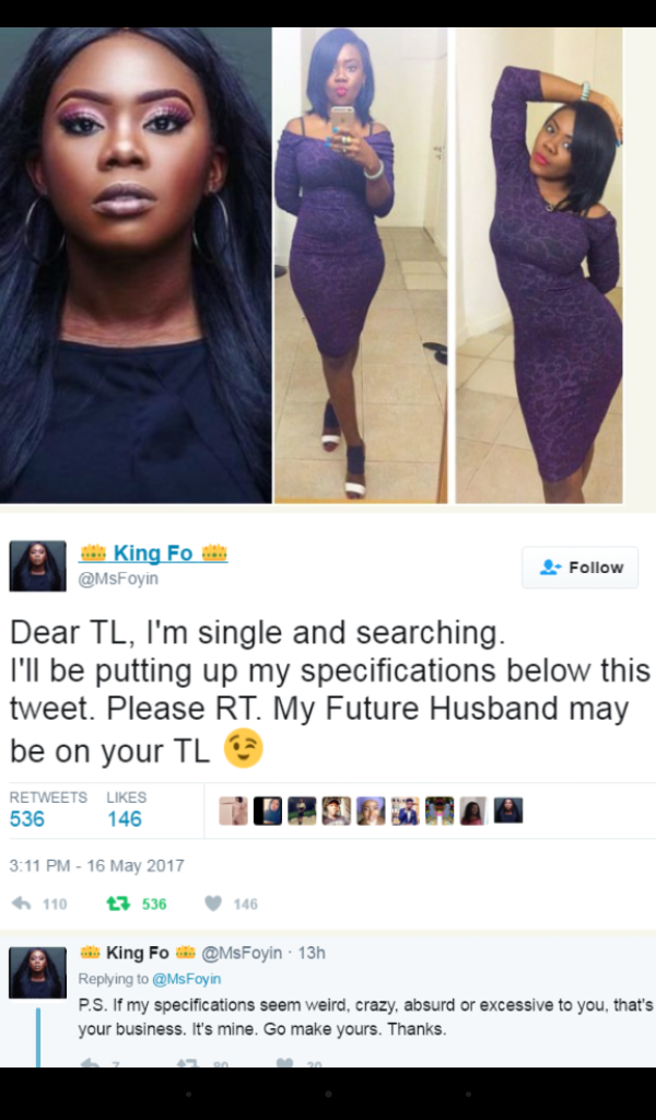 LOL! Covenant University Graduate Needs Husband… see her specifications