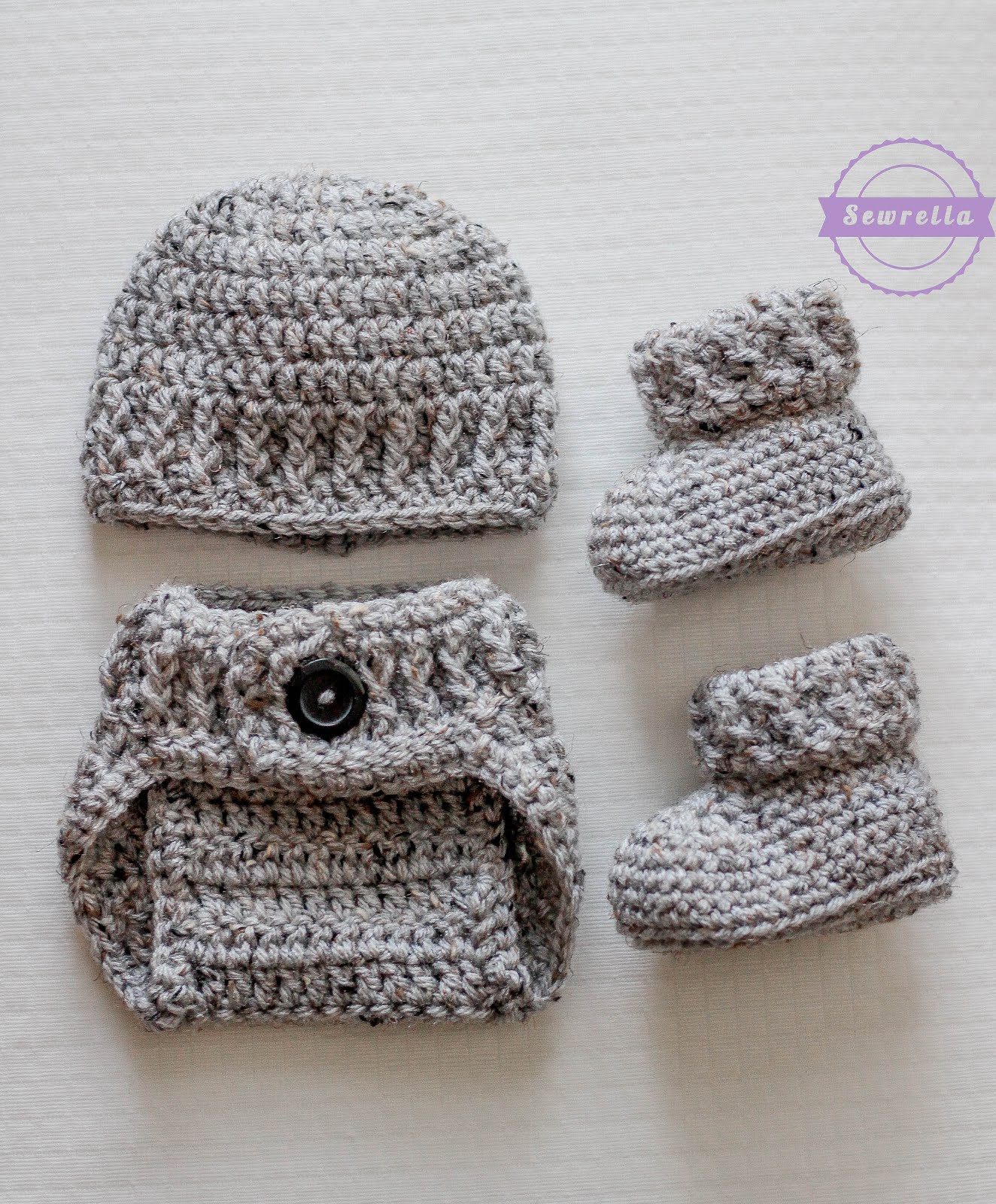 The Parker Crochet Diaper Cover - Sewrella