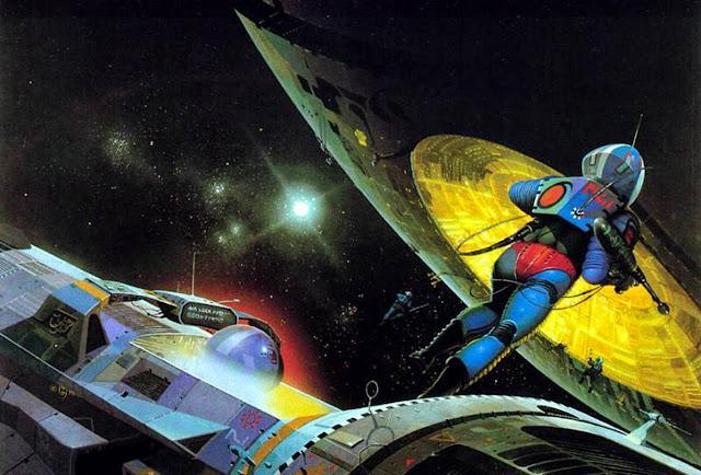 """Portada de Lord Tedric: The Space Pirates, de E.E. """"Doc"""" Smith (1979)"""