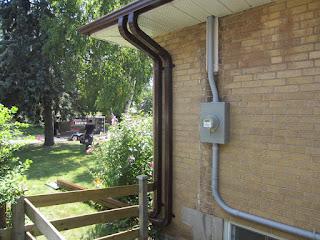 Rainwater management Toronto eavestrough gutter downspout