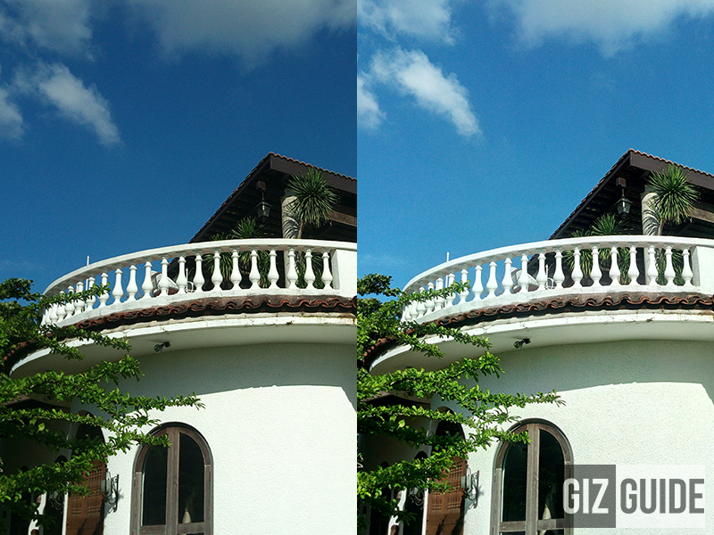 Normal mode vs HDR