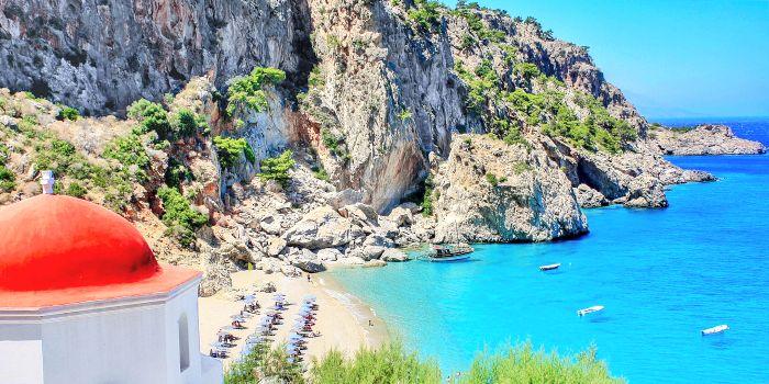 Karpathos, isola del Dodecanneso, Grecia
