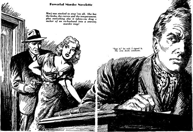 Dime Detective August 1952 - Trap for a Tigress!  - John D. MacDonald