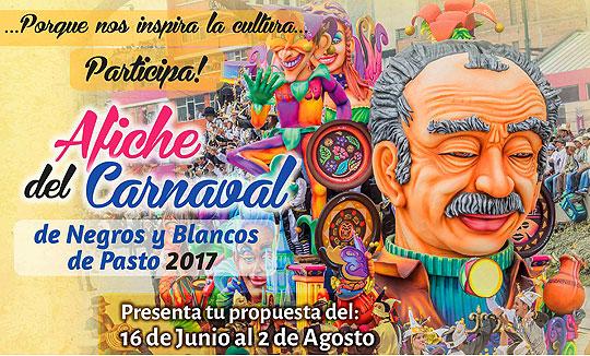 Diseña el afiche del Carnaval de Negros y Blancos 2017