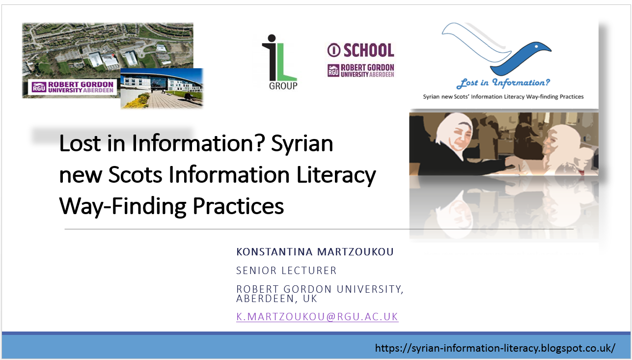 Lost in Information? Syrian new Scots Information Literacy