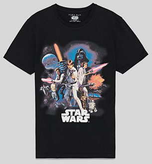camiseta star wars hombre mujer