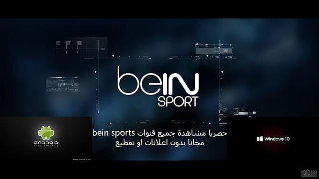 مشاهدة قنوات bein sports مجانا