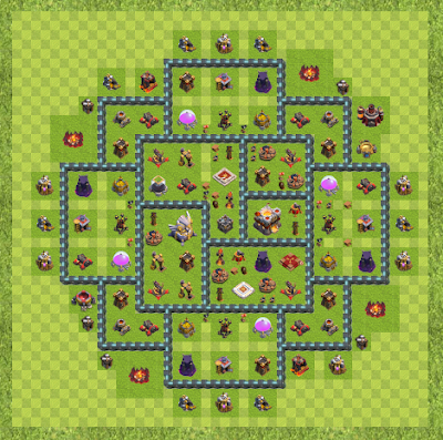 War Base Town Hall Level 11 By anonymous (th TH 11 Layout)