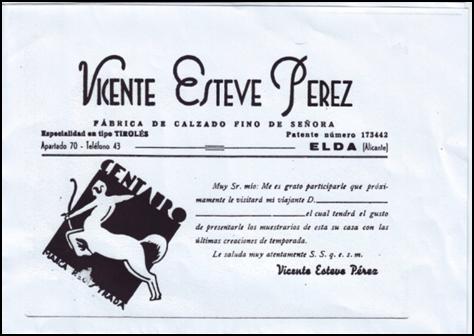 013a128969 Tarjeta de razón social y foto del stand en la 1ª Feria Nacional de  Calzados en Elda