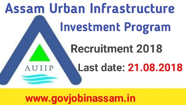 Assam Urban Infrastructure Investment Program Recruitment 2018, aiiu recruitment