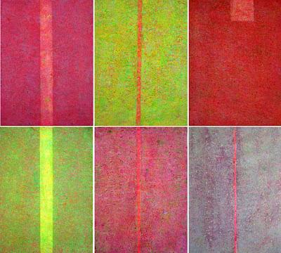 Farbflächenmalerei, Sechser Serie, Abstrakte Malerei