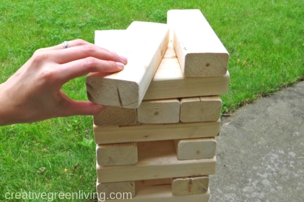 How To Make A Giant Jenga Yard Game Creative Green Living