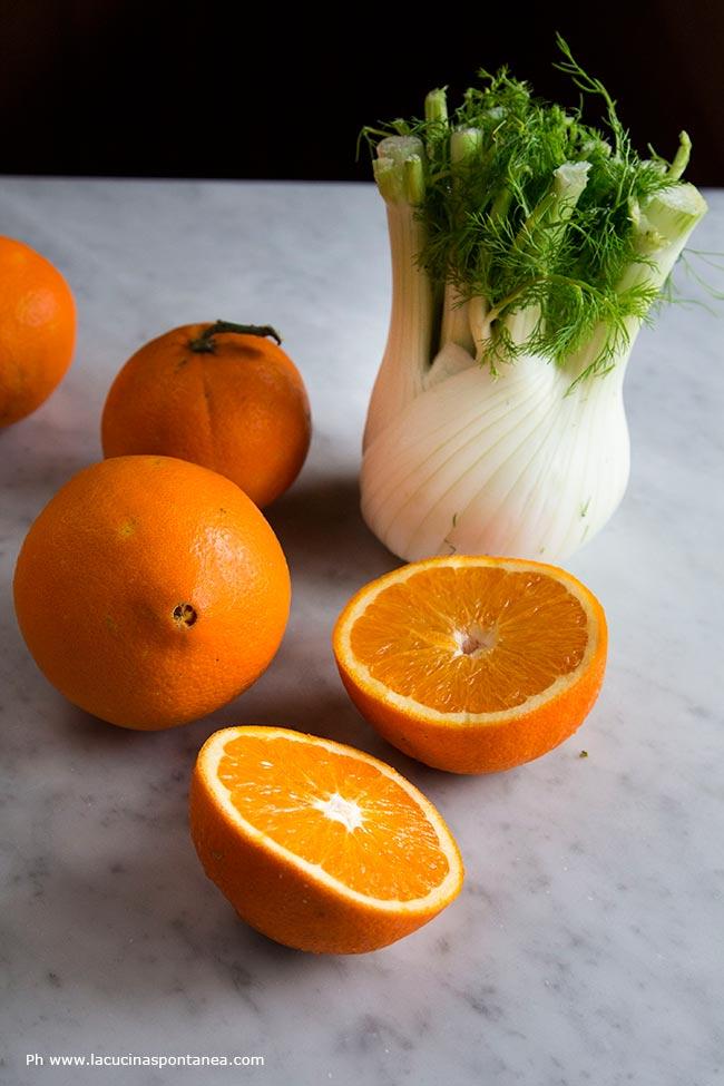 Foto con finocchi ed arance